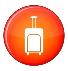 Travel suitcase icon flat style vector