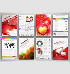 Valentines day infographic template brochure vector
