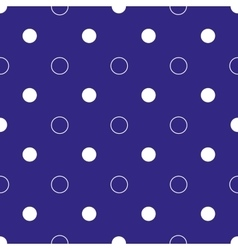 White polka dot geometric and circles seamless vector image vector image