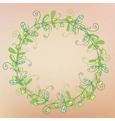 Wreath of grass pattern vector