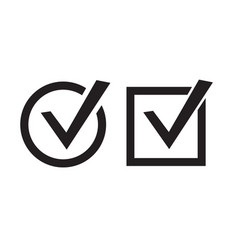 Check marks icons vector