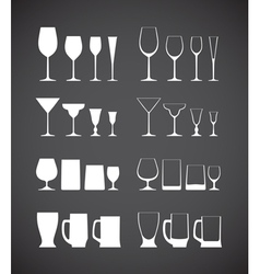 Glass silhouettes vector image