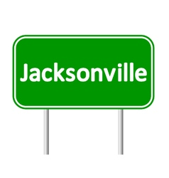 Jacksonville green road sign vector