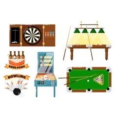 Active leisure and sports game set vector