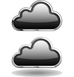 Black cloud icon vector