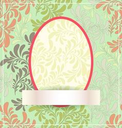 Easter egg made of flowers eps10 vector