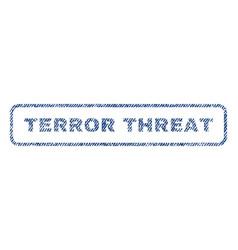 Terror threat textile stamp vector