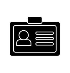 Id card icon vector