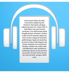 Songs and headphones vector