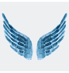 Watercolor wings vector