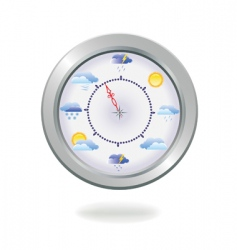 weather clock vector illustration vector image