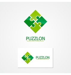 Puzzle design logo vector