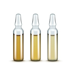 Glass medical ampoules bottles isolated vector