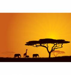 African background vector