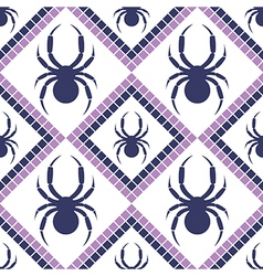 Pattern geometric blue and violet background with vector