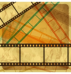 Vintage scratch background with film frame Eps 10 vector image