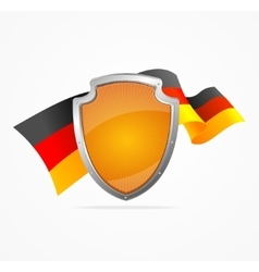 Germany flag and shield vector
