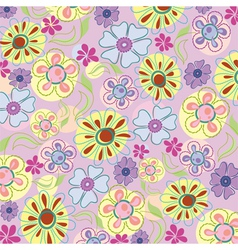 embroidery of flowers vector image