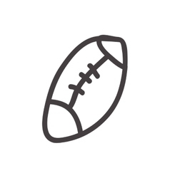 American football ball icon Sketch design vector image