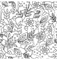 Autumn seamless pattern coloring vector image vector image