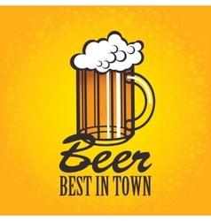 Beer glasses on an orange background vector