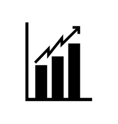 Black icon bar chart vector