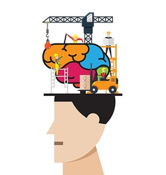 brain development concept vector image