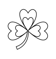 Clover with three leafs natural emblem vector