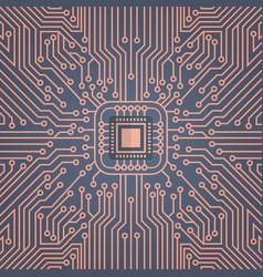 Computer chip moterboard network data center vector