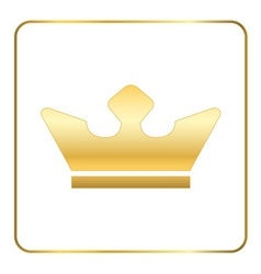 Crown gold icon white vector