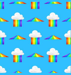 Different style rainbow color strips after rain vector