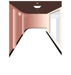 Home hallway background vector