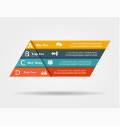 infographic design template with place for data vector image