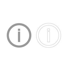 Information grey set icon vector
