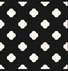 monochrome seamless pattern rounded ceosses vector image