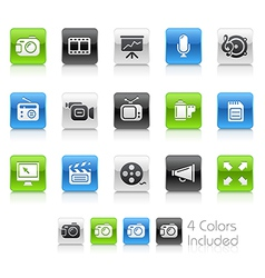 Multimedia Clean Series vector image