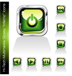 music player icons vector image vector image