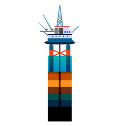 oil platform at sea flat vector image