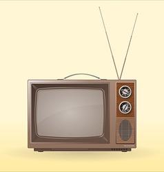 Old retro tv vector