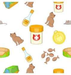 Pet pattern cartoon style vector