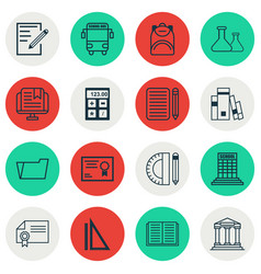 Set of 16 education icons includes education vector