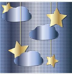 starry sky metal vector image vector image