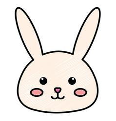 Stuffed animal rabbit vector