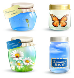 Summer Jar Set vector image