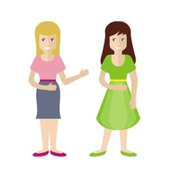Woman characters in flat style vector