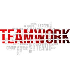 Word cloud teamwork vector