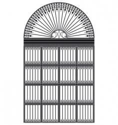 wrought iron portal vector image vector image