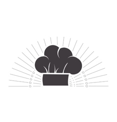 Chef hat emblem vector