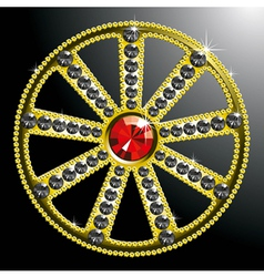 Expensive gold diamond wheel vector
