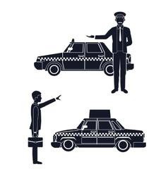 cab car driver passenger service public vector image